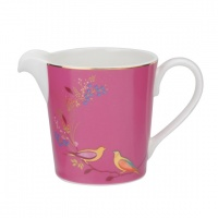 Pink Bird Print Cream Jug By Sara Miller London