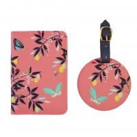 Coral Orchard Print Travel Set By Sara Miller London
