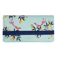 Blue Orchard Print Travel Wallet By Sara Miller London