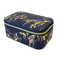 Navy Orchard Songbird Print Jewellery Case Sara Miller London
