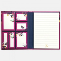 Orchard Butterfly Print Sticky Notes and Notepad Sara Miller London