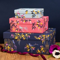 Set of 3 Orchard Print Sara Miller London Gift Boxes