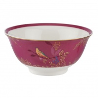 Pink Bird Print Small Bowl By Sara Miller London