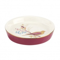 Pink Bird Print Mini Dish By Sara Miller London