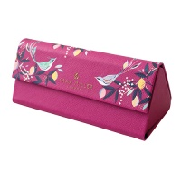 Pink Orchard Songbird Print Glasses Case By Sara Miller London