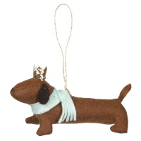 sausage dog felt christmas tree decoration by meri meri - Narwhal Christmas Decoration