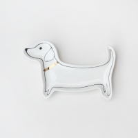 Sausage Dog Shape Ceramic Trinket Tray By Caroline Gardner