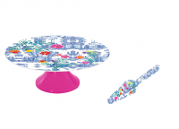 Colourful Melamine Cake Stand and Cake Server