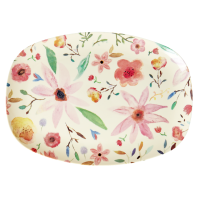 Selmas Flower Print Rectangular Melamine Plate By Rice DK