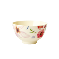 Selmas Flower Print Small Melamine Bowl By Rice DK