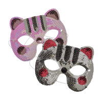 Fun Cat Sequin Masks By Rice DK