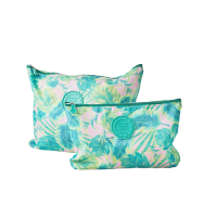 Set of 2 Holiday Packing Pouches Palm Leaf Print By Rice DK