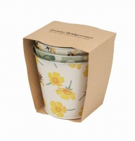 Buttercup Print Set of 3 Plant Pots By Emma Bridgewater