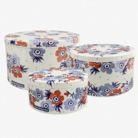 Anemone Print Set of 3 Cake Tins By Emma Bridgewater