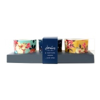 Set of 3 Glass Tea Lights By Joules