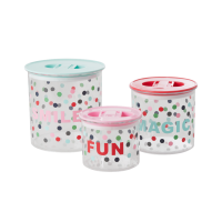 Set of 3 Dot Print Storage Pots By Rice DK