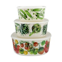 Vegetable Garden Set of 3 Melamine Containers By Emma Bridgewater