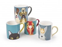 Set of 4 Aminal Mugs From the Creatureware Collection