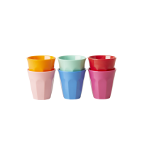 Set of 6 Melamine Espresso Cups in Choose Happy  Colours by Rice DK