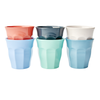 Set of 6 Happy 21st Coloured Melamine Cups By Rice DK