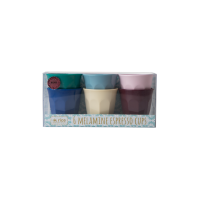 Set of 6 Melamine Espresso Cups in Urban Colours by Rice DK