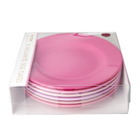 Set of 6 Melamine Side Plates called 50 Shades of Pink By Rice DK