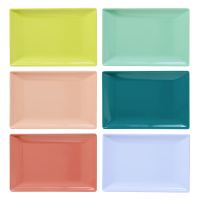 Melamine Rectangular Sushi Plates Shine Colours By Rice DK