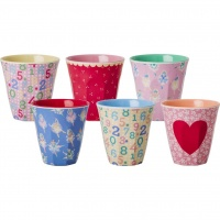 Set of 6 Small Kids Melamine Cups Girly Prints By Rice DK