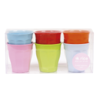 Rice DK Set of 6 Small Kids Melamine Cups Bright Colours