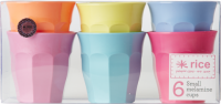 Rice DK Set of 6 Kids Melamine Cups Fun Colours