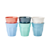 Set of 6 Happy 21st Coloured Small Melamine Kids Cups By Rice DK