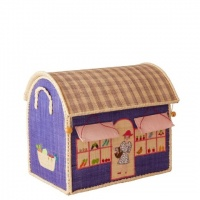 Shop Theme Small Raffia Toy Basket Rice DK