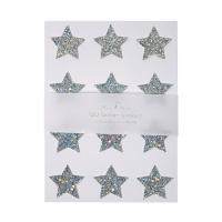 Silver Glitter Star Stickers By Meri Meri