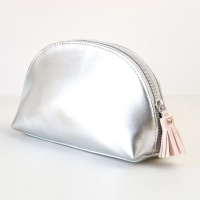 Silver Half Moon Cosmetic Bag By Caroline Gardner
