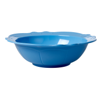 Sky Blue Melamine Salad or Serving Bowl By Rice DK