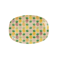 Pineapple Print Small Rectangular Melamine Plate Rice DK