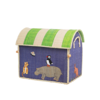Animal Theme Small Raffia Toy Basket Rice DK