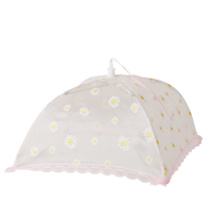 Mesh Foldable Food Cover White Flower Print By Rice DK
