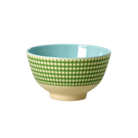 Green Dot Print Melamine Small Bowl Rice DK