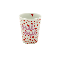Porcelain Cup with Small Hearts & Oui Print By Rice DK