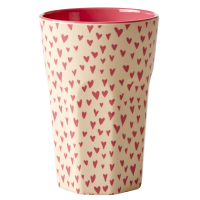 Small Heart Print Tall Melamine Cup By Rice DK
