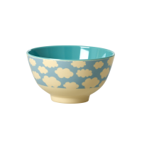 Blue Cloud Print Small Melamine Bowl Rice DK