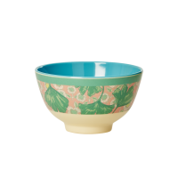 Leaves & Flower Print Small Melamine Bowl By Rice DK