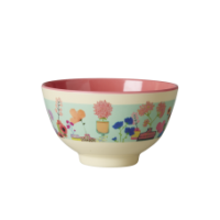 Small Colourful Flower Display Print Melamine Bowl Rice DK