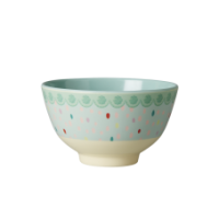 Small Colourful Raindot Print Melamine Bowl By Rice DK