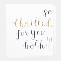 So Thrilled For You Both Greeting Card By Caroline Gardner