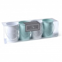 Sophie Conran Tea Light Holders Blue & Chalk White
