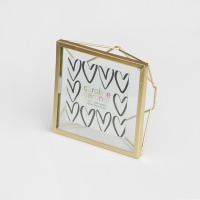 Gold Square Photo Frame By Caroline Gardner