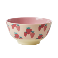 Strawberry Print Melamine Bowl By Rice DK