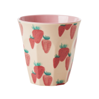 Strawberry Print Melamine Cup By Rice DK